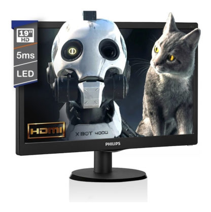 "Monitor Led 19"" Phillips VGA - HDMI - Smart Control | PORTAL INSUMOS"
